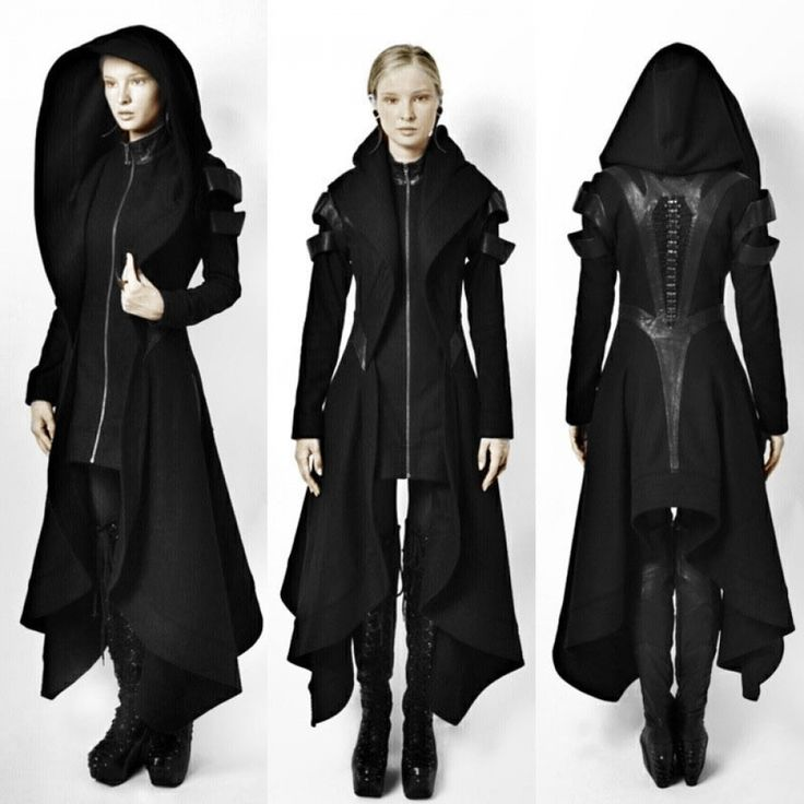women hooded coat punk gothic cosplay steampunk jacket