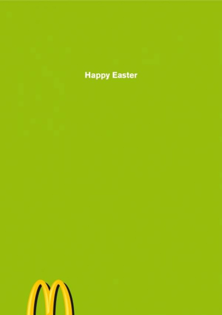 Happy Easter by McDonald #ad #bunny