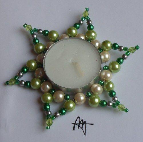 Svícínek perličkový zelený