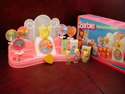 """Barbie Perfume Maker! I had this in the very early 80s. I made some of the most """"lovely"""" smelling """"perfumes"""". This disappeared rather early in my childhood...hmmmm, I wonder why?"""