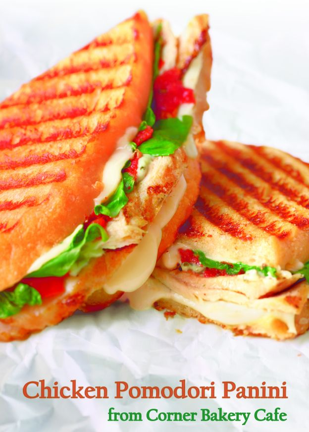 Chicken Pomodori Panini recipe from Corner Bakery Cafe