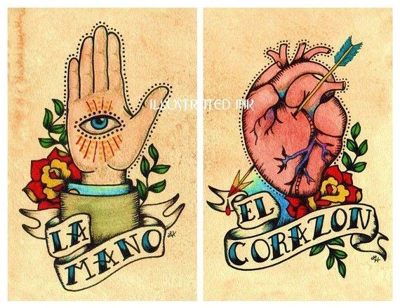 hand & heartTattoo Ideas, The Hand, The Heart, Old School Tattoos, Old Schools Tattoo, Art Prints, Ink Tattoo, Tattoo Art, Traditional Tattoo