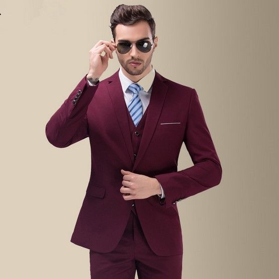 Jacket Vest Pants Business Party Dress Wedding Suits For