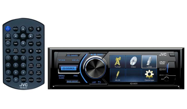 Vehicle Electronics And GPS: New Jvc Kd-Av31 3 Single-Din Car Audio Stereo/Receiver/Player W/Dvd/Usb Remote -> BUY IT NOW ONLY: $105.0 on eBay!