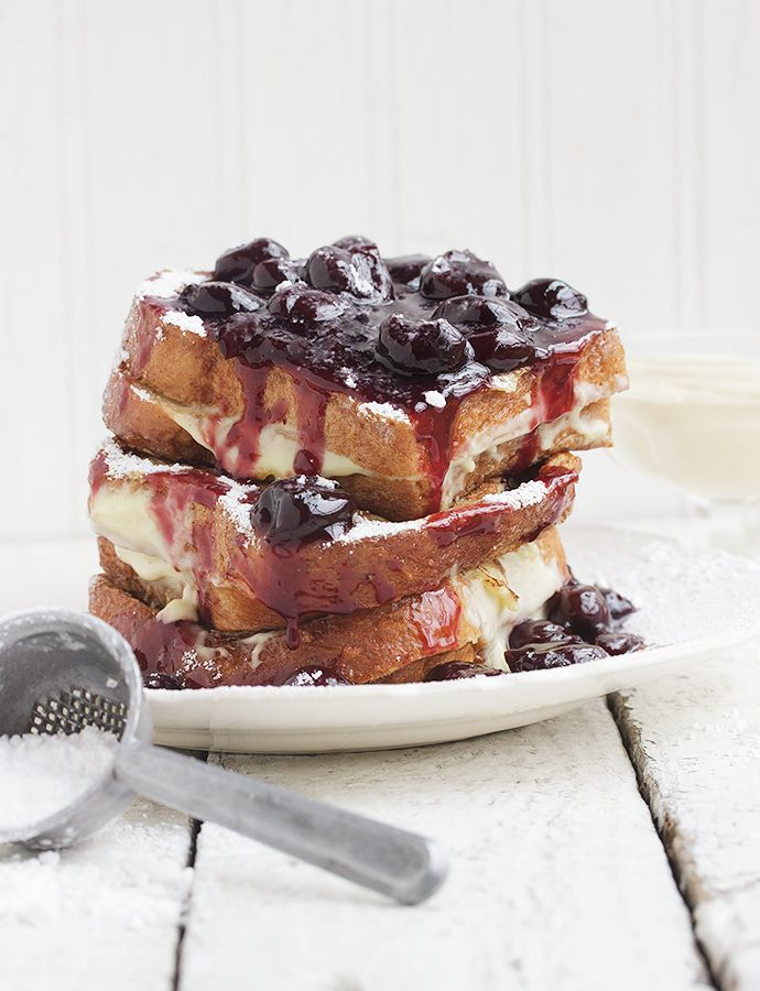 Cherry French Toast with Vanilla Cream  The Cherry Sauce, Cherry Bread and Vanilla Cream can all be made up to 2 days ahead. You could also make the bread well ahead and freeze it. With all the ingredients made ahead, this delicious French Toast comes together in just 10-15 minutes!