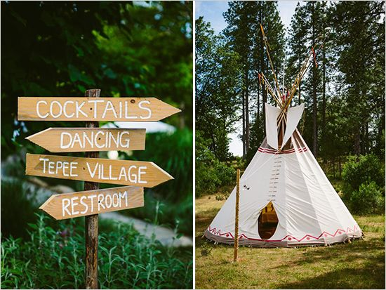 Native American Wedding Lodge / Pocahantus Inspiration |  change the signs to suite your theme-