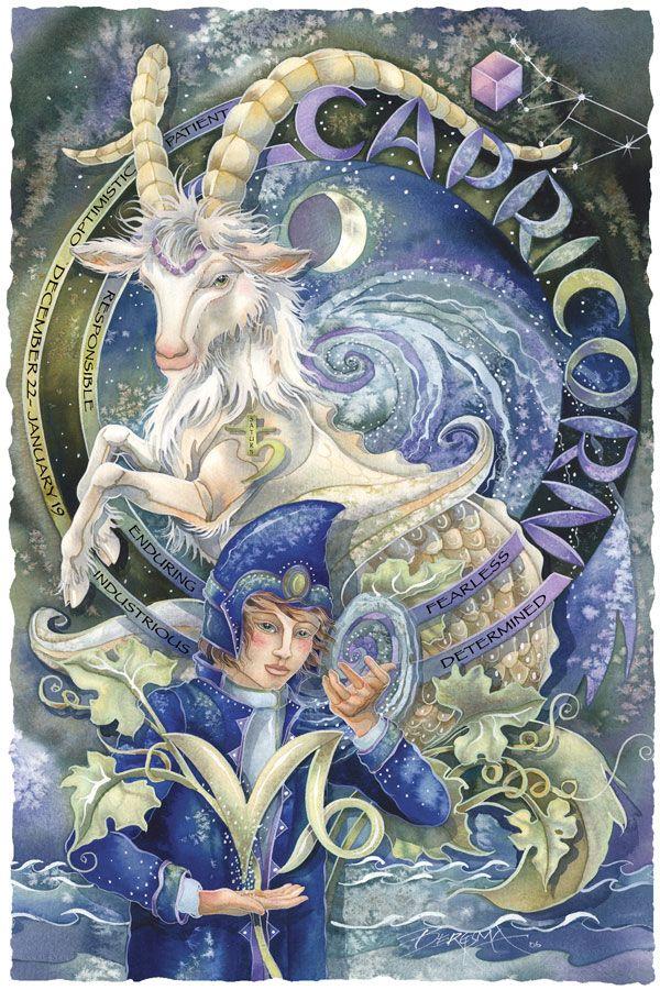 Bergsma Gallery Press::Paintings::Art With Symbols::Zodiac::Capricorn - Prints