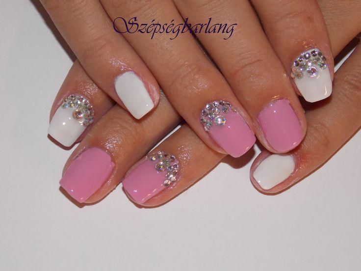 fehér és pink
