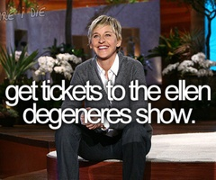 get tickets to the ellen degeneres show. Black Bedroom Furniture Sets. Home Design Ideas