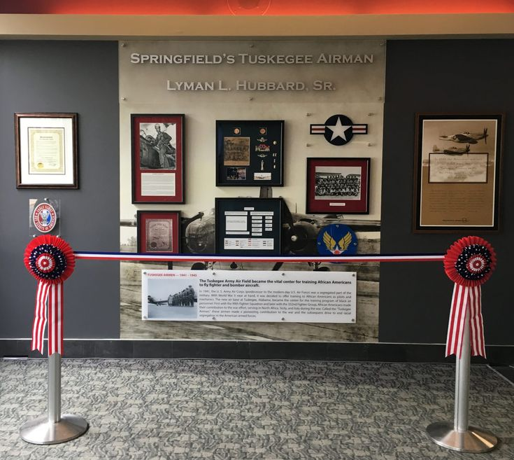 In May 2017, a memorial to original Tuskegee Airman pilot Lyman L. Hubbard Sr. was unveiled at the Abraham Lincoln Capital Airport. He was the only resident of Springfield, IL to graduate from pilot training in the Tuskegee program. He trained as a bomber pilot with the 477th Bombardment Group.