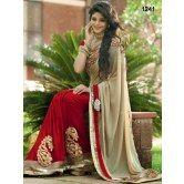 beautiful-beige-half-half-saree
