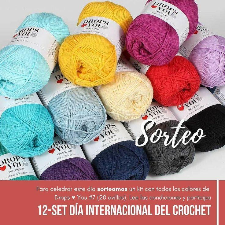 Hola MaryBichus!!! Hoy se festeja el Día Mundial del Crochet para festejarlo sorteamos un kit con todos los colores de Drops  You #7 (20 ovillos) para tejer lo que quieras.  Sigue los pasos y participa.  1) Síguenos en Instagram a @bichus.chochet y @lanasdrops 2) Deja un comentario en esta publicación y menciona a dos amigas  El sorteo es válido para cualquier residente en españa mayor de edad que cumpla con los requisitos. Enviaremos el premio por correo. Podéis participar hasta las 24hs…