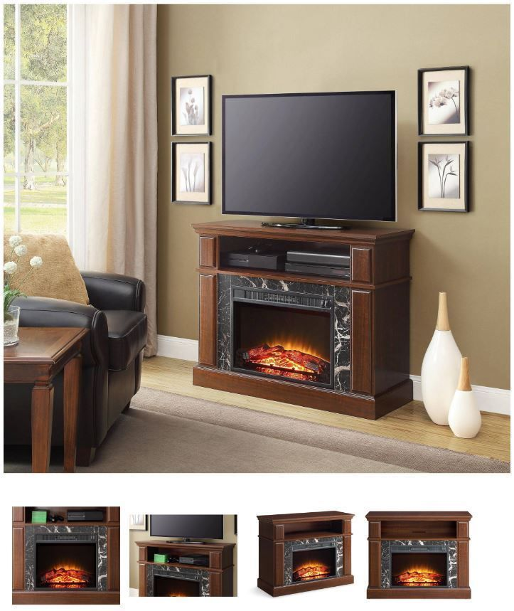 32 Inch TV Stand With Fireplace Media Console Electric Entertainment Center SALE #WhalenFurniture