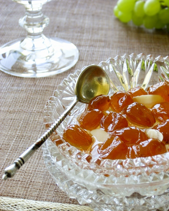 #Grape fruit spoon sweet. Spoon sweets are typical of #greek cooking and used to be the pinnacle of greek hospitality, always available for guests that would drop by unannounced. #Greece #cuisine #sweet #dessert