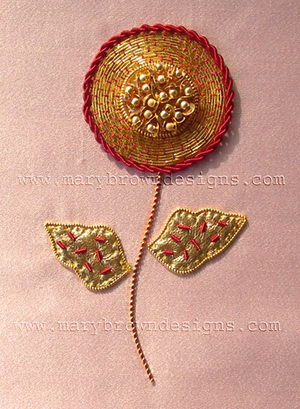 Little Flower goldwork kit at Mary Brown's designs (it's about 2 x 3 inches)