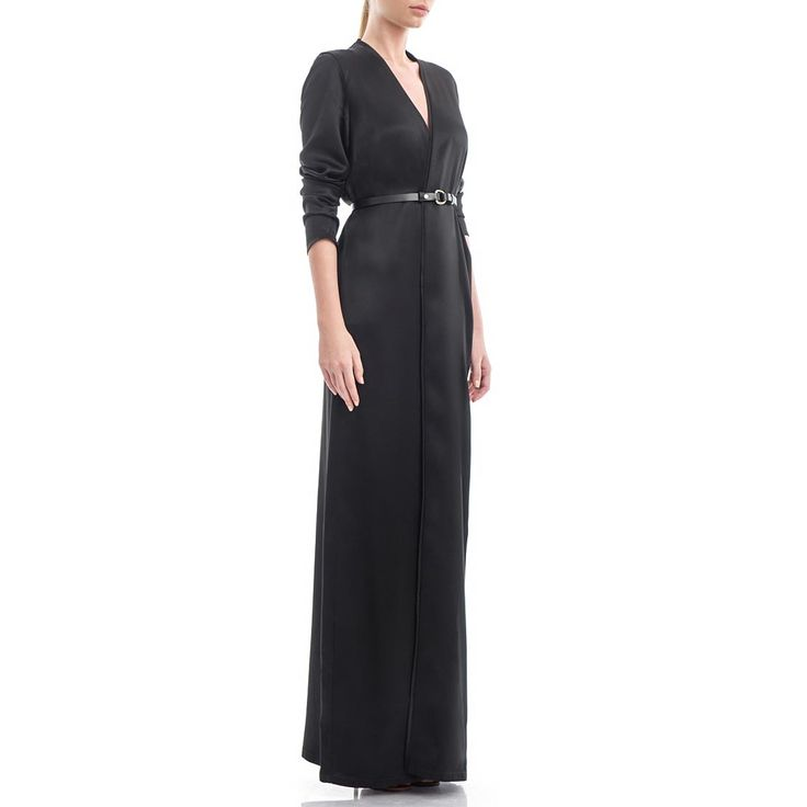 The maxi wrap dress is meticulously handcrafted from black silk-satin. It's made for a high smooth feel against your skin. Wear it open or cinch your waist with the tie belt. Black silk-satin 100% Silk Wash by hand The model is 176 cm tall and is wearing a size 36 If you need this product made to fit your needs and measures, book an appointment in our studio at i@laurahincu.ro for Private Fashioning.