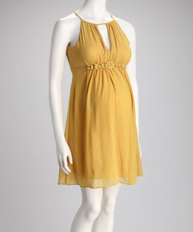 Cute yellow maternity dress - why couldn't I find stuff like this when I was pregnant?