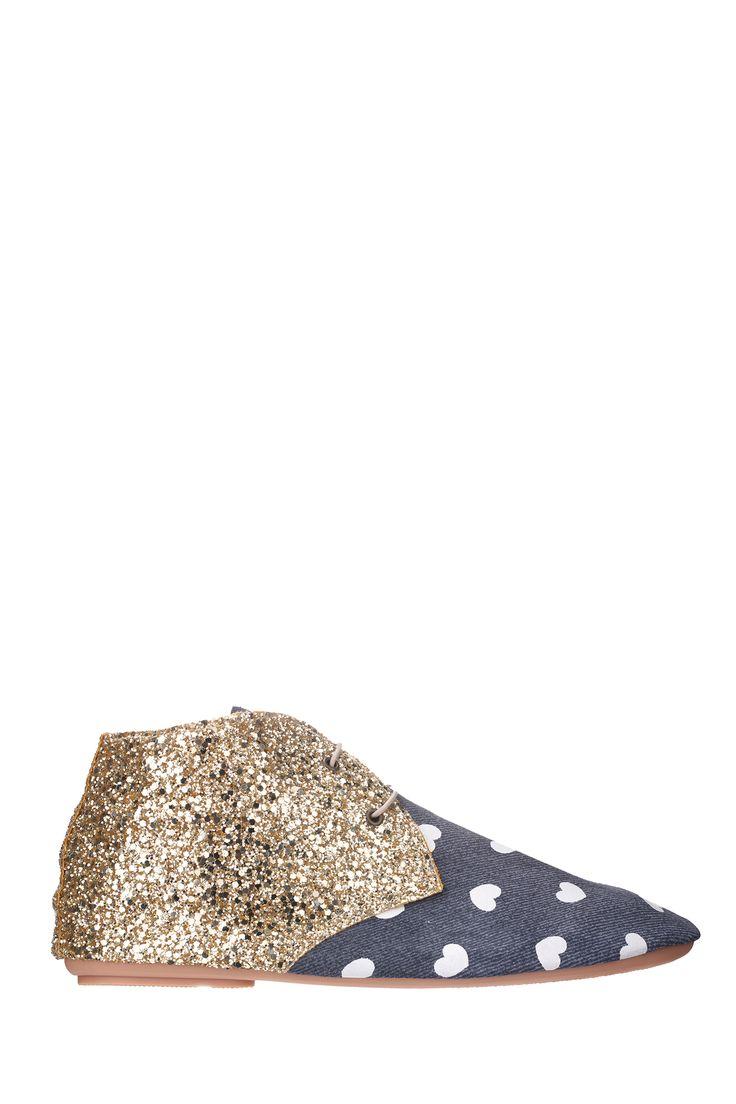 Derbies cuir et paillettes Cuola Bleu #Anniel sur @MonShowroom