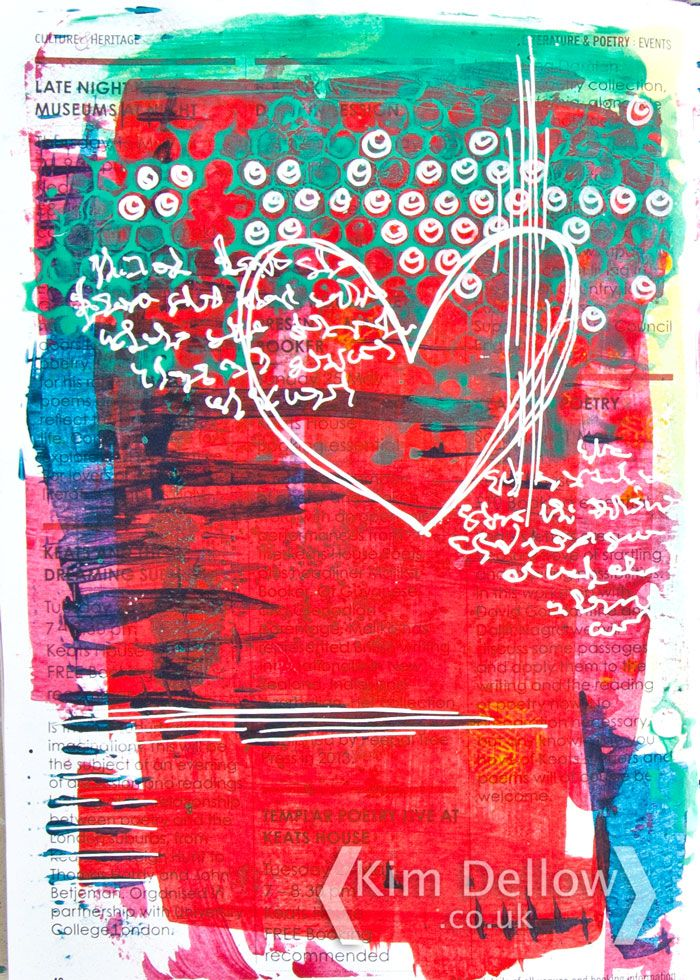 Kim Dellow: An art journal page from my Junk Journal