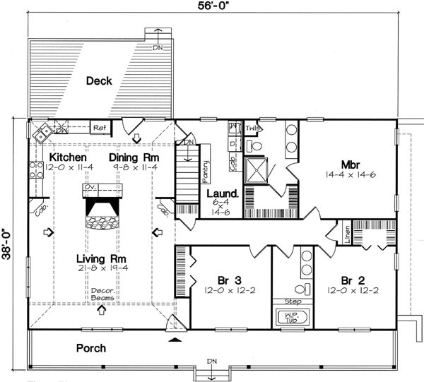 Ranch style hillside house plans