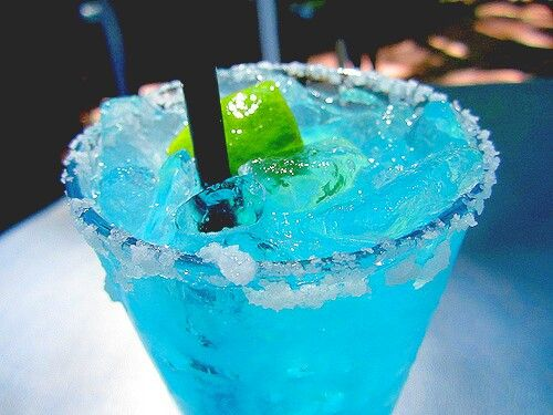 Blue drink summer