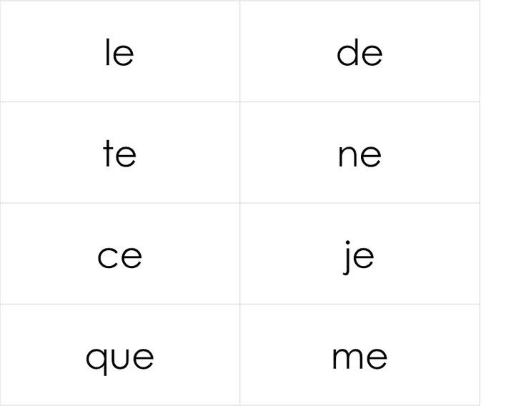 "from Canadian French immersion teacher Madame Belle Feuille: mots usuels - 1ière, 2ième, 3ième (I assume these lists are the French equivalent of the English ""sight words"" that children are expected to be able to read without having to sound out)"