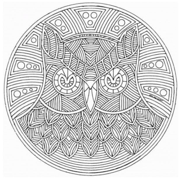 adult mandala coloring pages