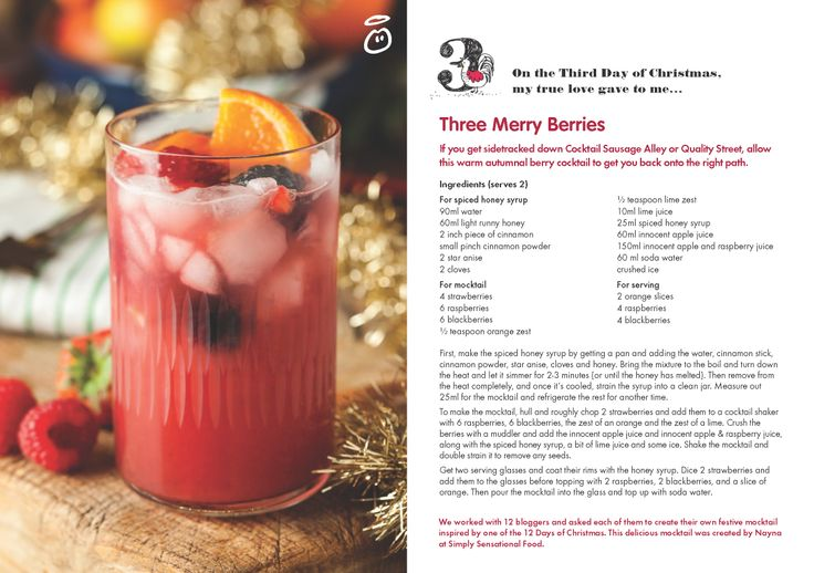 On the Third Day of Christmas, my true love gave to me...Three Merry Berries