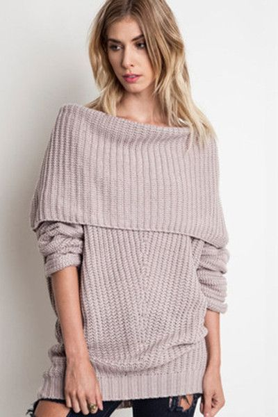 Chunky Cable Knit Off The Shoulder Sweater - Coat Nj f44502357