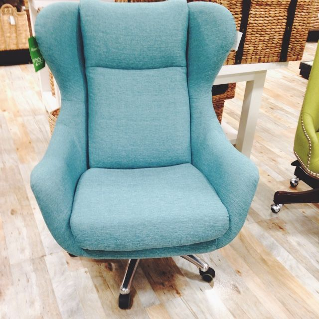 Turquoise Fabric Office Chair