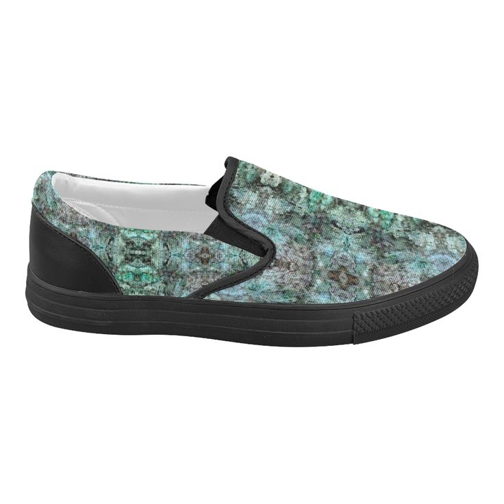Green Black Gothic Pattern Women's Slip-on Canvas Shoes (Model 019)Shoes, sneakers, fashion, accessries, fashion wear, women,womens, black, white, pattern, argyle, gym shoes, sports, leisure, modern, cool, elegant, trendy, trends,chic,beautiful,