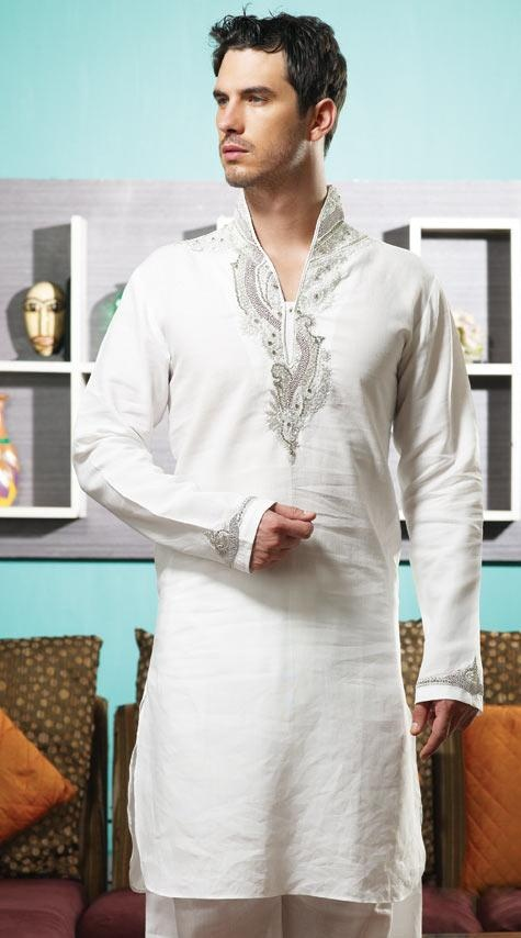 #White Linen Readymade #Pathani #Suit @ $152.20