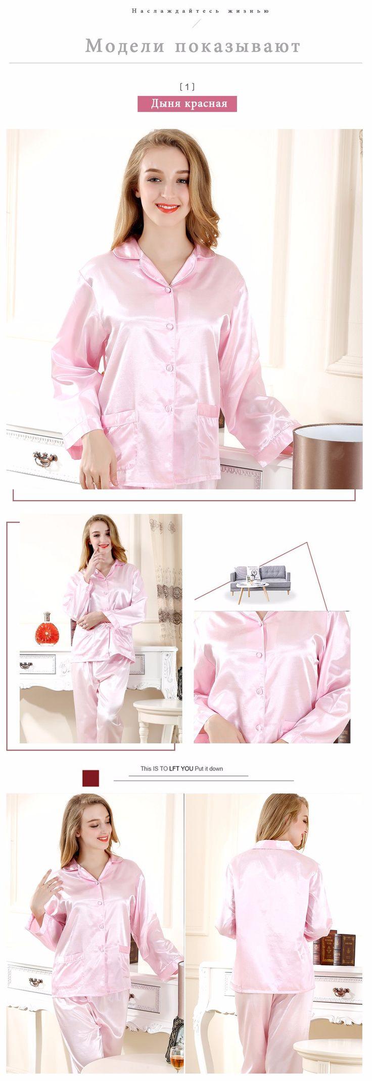 Yuzihua 2017 топы пижамы шелковый атлас ночное розовый белый цвет пижамы женские летние пижамы 2 шт./компл. Ml XL 35019 купить на AliExpress
