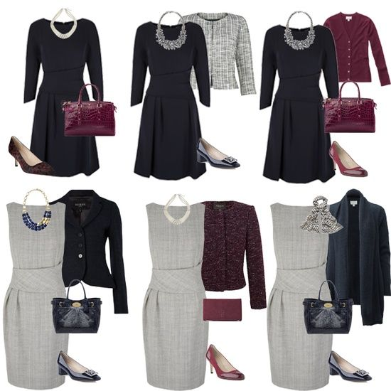 Business casual wardrobe with 2 dresses and some accessories!!!