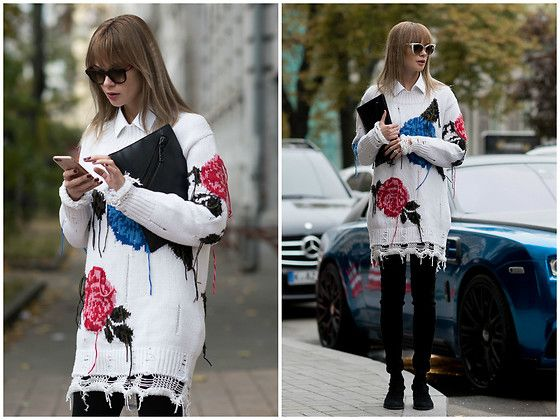 Get this look: http://lb.nu/look/8539047  More looks by Anastasiia Masiutkina: http://lb.nu/anastasiiamas  Items in this look:  Msgm Sweater, Stuart Weitzman Boots, Kenzo Bag, Gucci Glasses   #casual #street #streetstyle #anastasiiamasiutkina #eatdresstravel #fashioninfluencer #fashion #streetstylevgenio #msgm