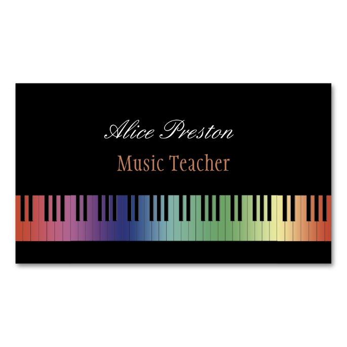 Best Music Business Card Templates Images On Pinterest - Music business card template