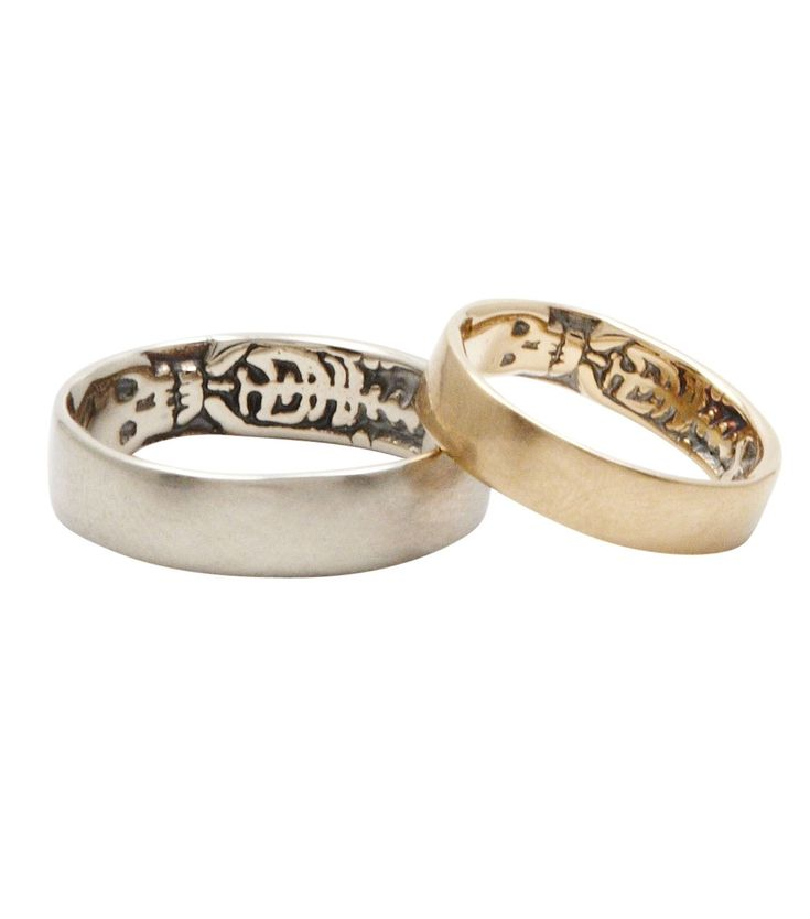 Super cool wedding bands