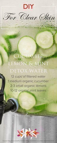 #Skin cucumber water