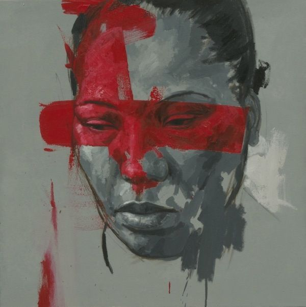 Siren Series, 80 X 80cm, oil on canvas