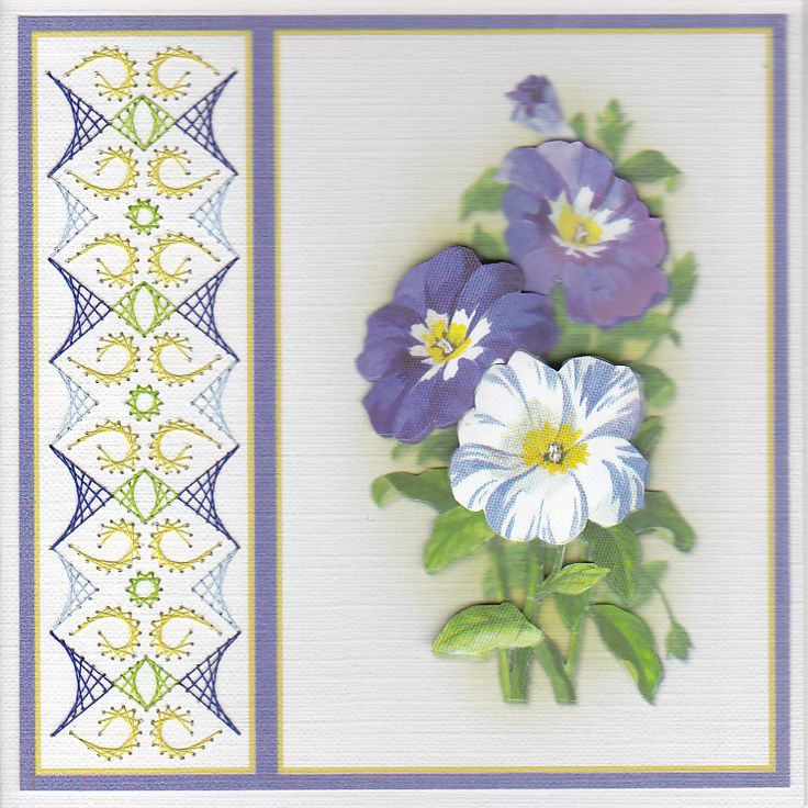 2220 Best Stitched Cards Images On Pinterest Paper Embroidery