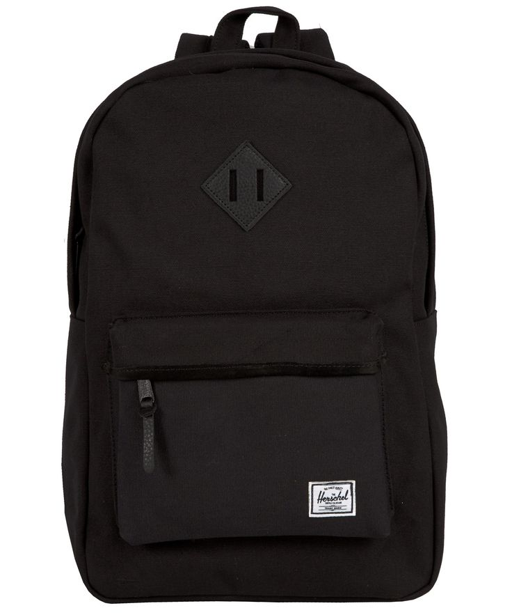 All black everything. Herschel's Heritage Canvas Backpack online at Liberty.co.uk