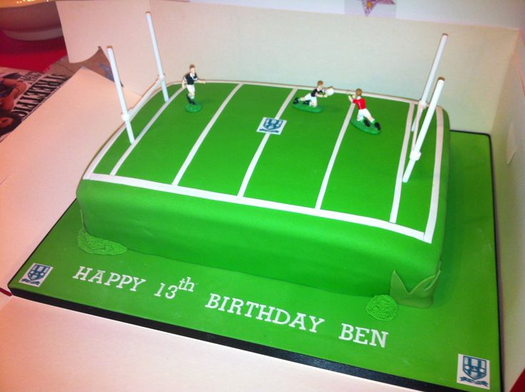 Cake Decorating Ideas Rugby : Rugby Pitch Birthday Cake Recipes Pinterest Birthday ...