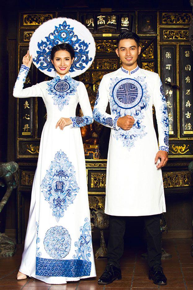 áo dài cô dâu chú rể 2016                                                                                                                                                                                 More