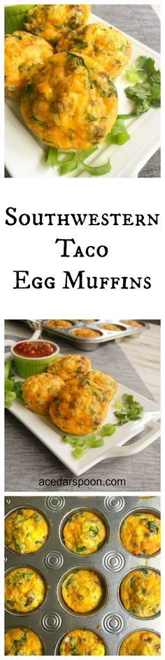 Southwestern Taco Egg Muffins are protein packed, great for lunch or breakfast and easy to make. Oh and you can freeze them! // A Cedar Spoon #Ohiobeef #ad