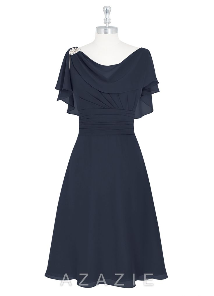 Shop Azazie Mother of the Bride Dresses - Keely MBD in Chiffon. Discover our stunning collection of flattering mother of the bride dresses in your choice of style, color, and fabric.