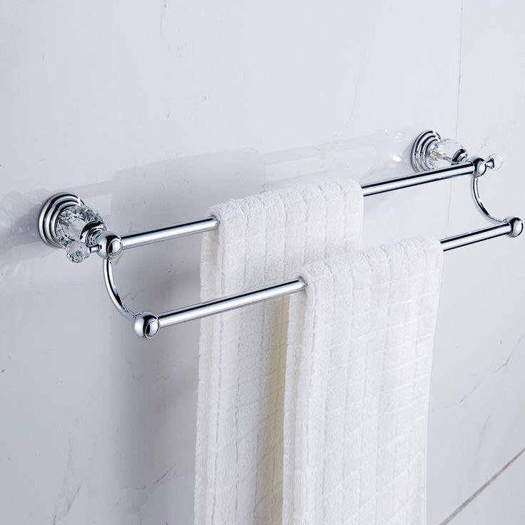 Golden crystal bathroom towel rack bathroom shelf towel