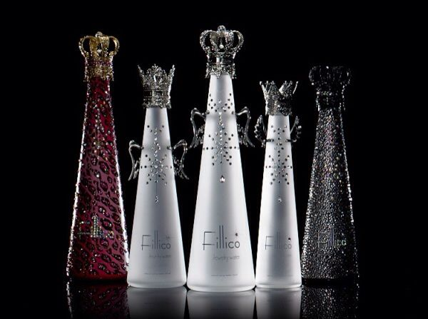 Glamorous Water: the branding and packaging lend fantasy to the water as to make a nirvana glamour.
