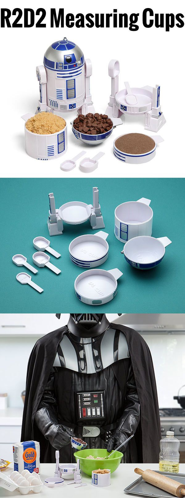 R2D2 Measuring Cup Set.This Is Definitely The Droid You Will Be Looking For In The Kitchen. $19.99