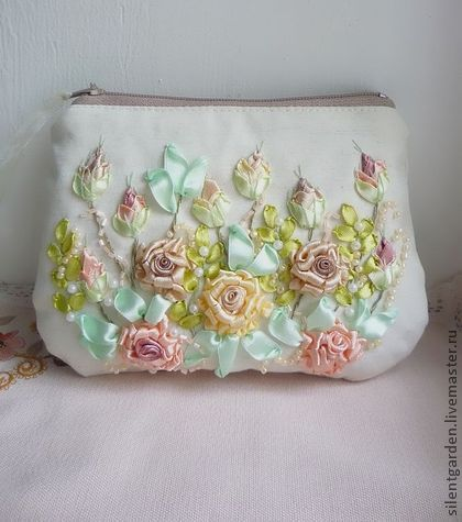 17 Best Images About Ribbon And Bead Embroidery On Pinterest | Ribbon Embroidery Tutorial ...