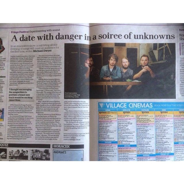 """@damienplatt's photo: """"Tonight is unmissable! 8 First Dates - 10pm at the Fringe Club, come and see some of Melbourne's best artists and bands on display. Free entry #mfringe #melbournefringefestival #theage"""""""